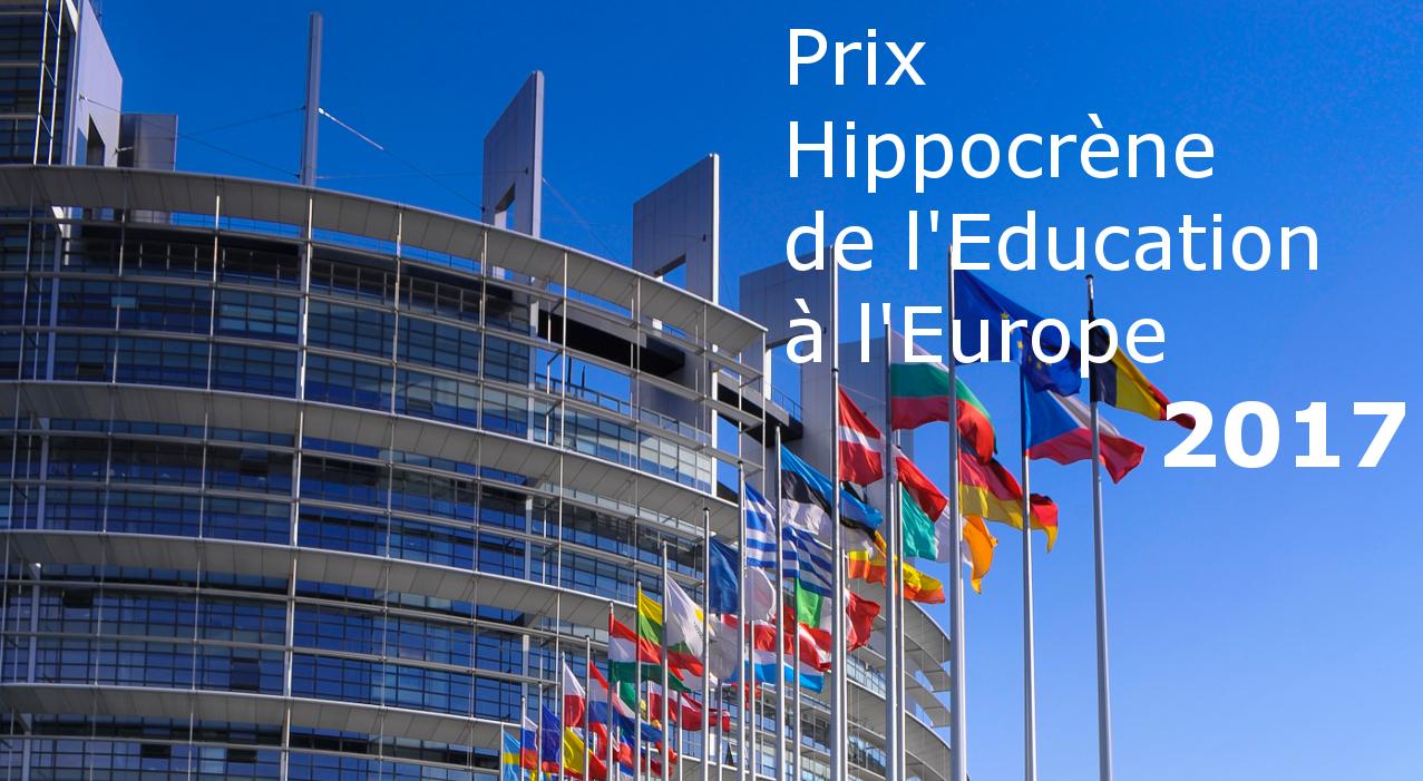 Toutes nos félicitations aux lauréats 2017 du Prix Hippocrène de l'éducation à l'Europe